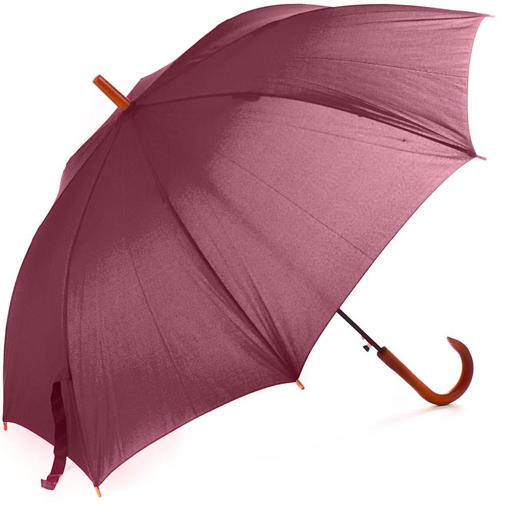 Зонт-трость FARE Парасолька-тростина жіночий напівавтомат FARE FARE1132-bordo