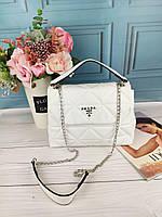 Белая женская сумка Prada Прада