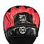 Лапы для бокса гнутые кожвинил, красные BOXER, фото 3