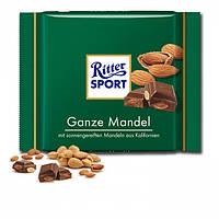 Шоколад Ritter Sport Ganze mandel 100 г. Германия!, фото 1