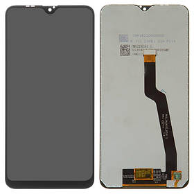 Дисплей (екран) для Samsung A105 Galaxy A10 2019 з сенсором (тачскріном) черный OEM