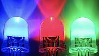 Упаковка цветных светодиодов 5мм двухцветные синий+красный 1000шт