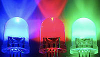 Упаковка цветных светодиодов 5мм RGB шесть цветов два режима 1000шт