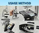 Микроскоп монокулярный металлический yegren №1056, фото 6