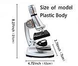 Микроскоп монокулярный металлический yegren №1056, фото 7