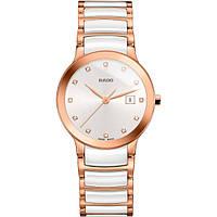 Часы наручные женские RADO CENTRIX DIAMONDS 01.111.0512.3.074/R30512742, сталь - керамика, бриллиантовые метки
