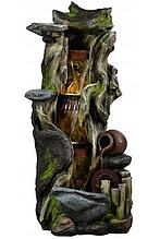 """Садовий водопад """"Лісова Весна"""" 110см, фонтан з підсвіткою"""