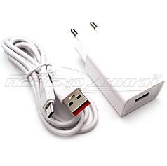Сетевое зарядное устройство USB 5V, 2.4A + кабель USB to micro USB, 1м