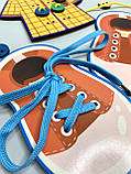 Дерев'яна шнурівка з гудзиками, фото 5