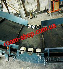 Ленточный транспортер, конвейер, навантажувач, ширина 800 мм., длина 8000 мм., под углом, фото 3