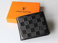 Мужской кожаный кошелек Louis Vuitton black