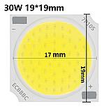 Cob LEd 30w + драйвер 220V 6000K Круглый Светодиод 30 вт COB для трекового светильника (ремкомплект), фото 7