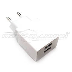 Сетевое зарядное устройство USB 5V, 2.1 A (2USB)