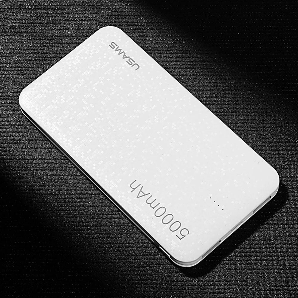 Зовнішній акумулятор Power bank USAMS Mosaic 5000 mah White