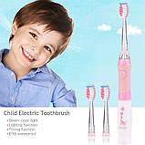 Seago SG-977 White with pink Детская звуковая электрическая зубная щетка, фото 2