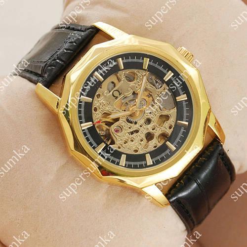 Классические наручные часы Omega Black/Gold/Black Classic 1824