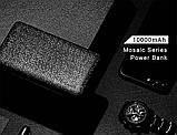 Зовнішній акумулятор Power bank USAMS Mosaic 10000 mah Black, фото 3