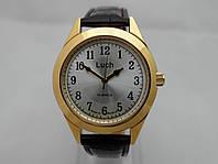 Часы механические Luch золотистые с серебристым циферблатом