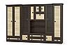 Гостиная стенка Тристан дуб сонома/темный венге / Мебель Сервис