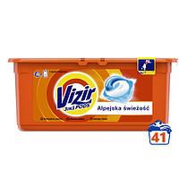 Капсули для прання кольорової білизни Vizir Go Pods Alpine Fresh 3в1 41 шт