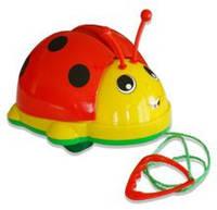 """Детская игрушка-каталка """"Божья коровка"""" 06-603 Kinder Way на веревочке"""