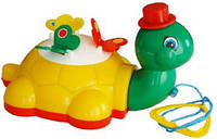 """Детская игрушка-каталка """"Черепашка"""" 06-601 Kinder Way на веревочке"""