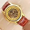 Яркие наручные часы Omega Brown/Gold/Gold Classic 1825