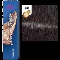 Краска для волос Wella Koleston Perfect ME+ 3/0 Темно-коричневый натуральный