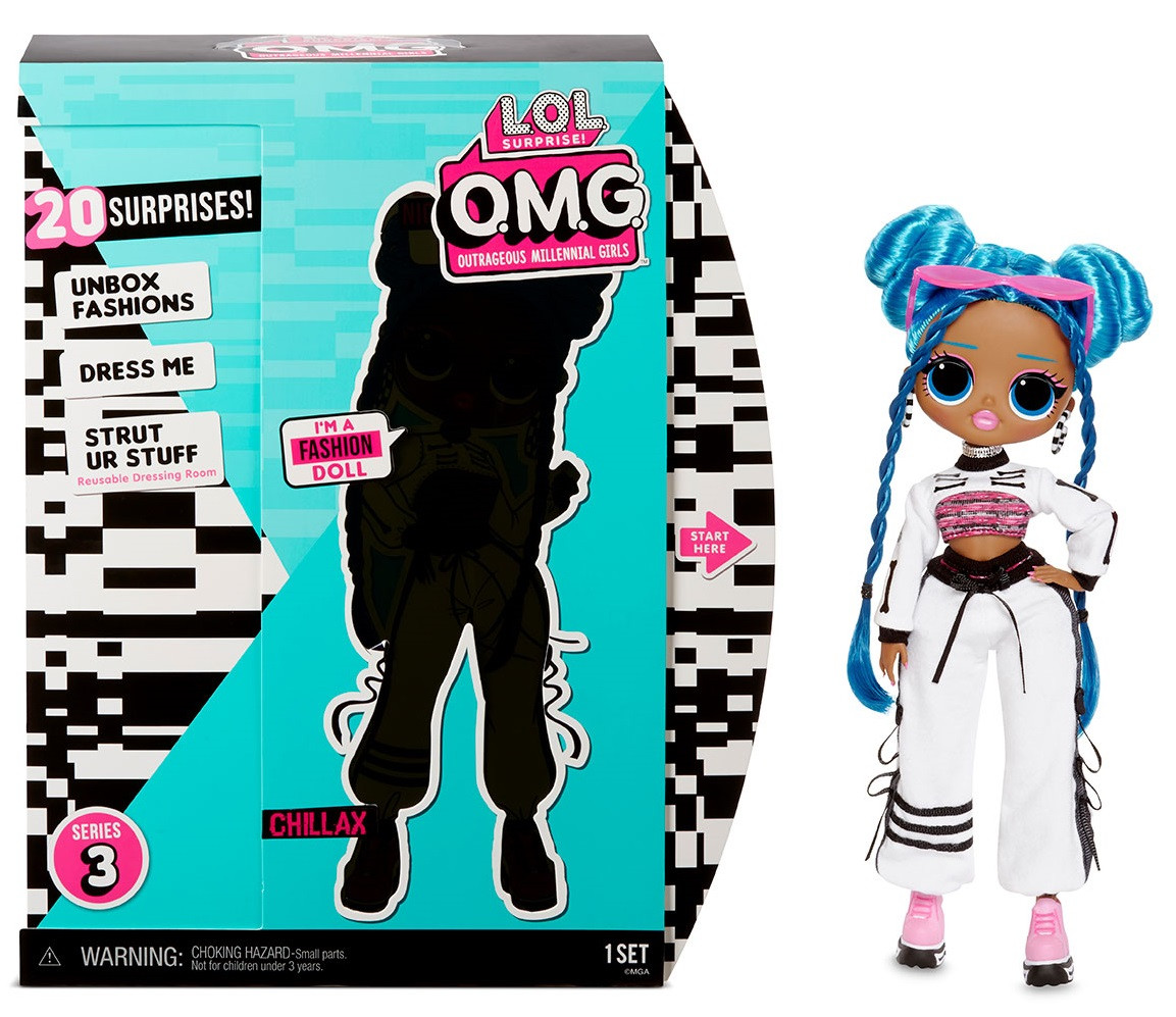 Кукла LOL OMG Chillax ЛОЛ ОМГ Леди-Релакс чиллакс серии 3 L.O.L. Surprise! S3 O.M.G Оригинал 570165