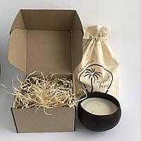 Подарочная свеча в кокосовой чаше Восточные пряности Coconut Home ароматическая декоративная