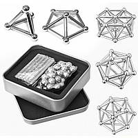 Магнитный конструктор Neo 62 стальных деталей Серебристый
