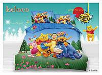 5D Детский комплект постельного белья ТМ Koloco подросток, Винни Пух