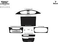 Renault Laguna 2001-2007 гг. Накладки на панель (2001-2005) Дерево