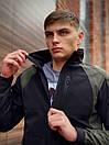 Мужская весенняя куртка хаки-черная Intruder SoftShell Lite 'iForce', фото 5