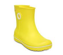 Чоботи гумові унісекс дощовики Крокси з кружечком / Crocs Jaunt Shorty Boot (15769), Жовті 35