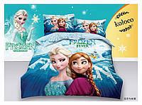 5D Детский комплект постельного белья ТМ Koloco подросток, Холодное сердце, Эльза