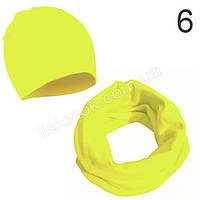 Лимонный набор детский шапка и хомут Bape