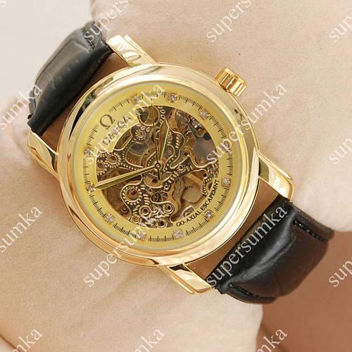 Механические наручные часы Omega Diamonds Black/Gold/Gold co-axial escapement 1832