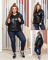 Куртка жіноча батал екошкіра, фото 1