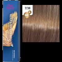 Краска для волос Wella Koleston Perfect ME+ 7/38 Пряный бисквит