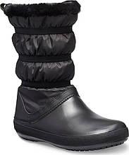 Сапоги зимние женские непромокаемые дутики с мехом / Crocs Women's Crocband Winter Boot (205314), Черные 35