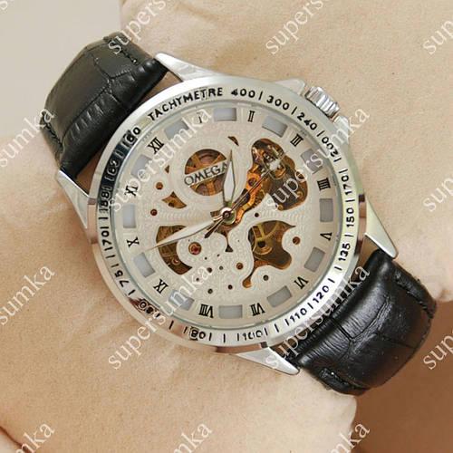 Повседневные наручные часы Omega Silver/White Skeleton 1837