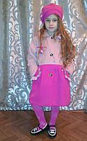 Пальто демисезонное + берет на девочек 92 -122  рост
