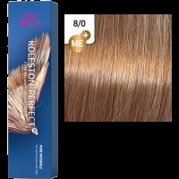 Краска для волос Wella Koleston Perfect ME+ 8/0 Светлый блонд натуральный