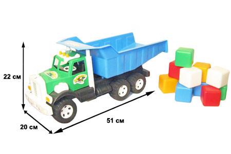 """Машина грузовик """"Фарго"""" с кубиками 009/4 ТМ Бамсик"""