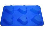 Формы и противень для выпечки (силикон) сердечки 6 ячеек FRICO FRU-891, 26x16x3 см.