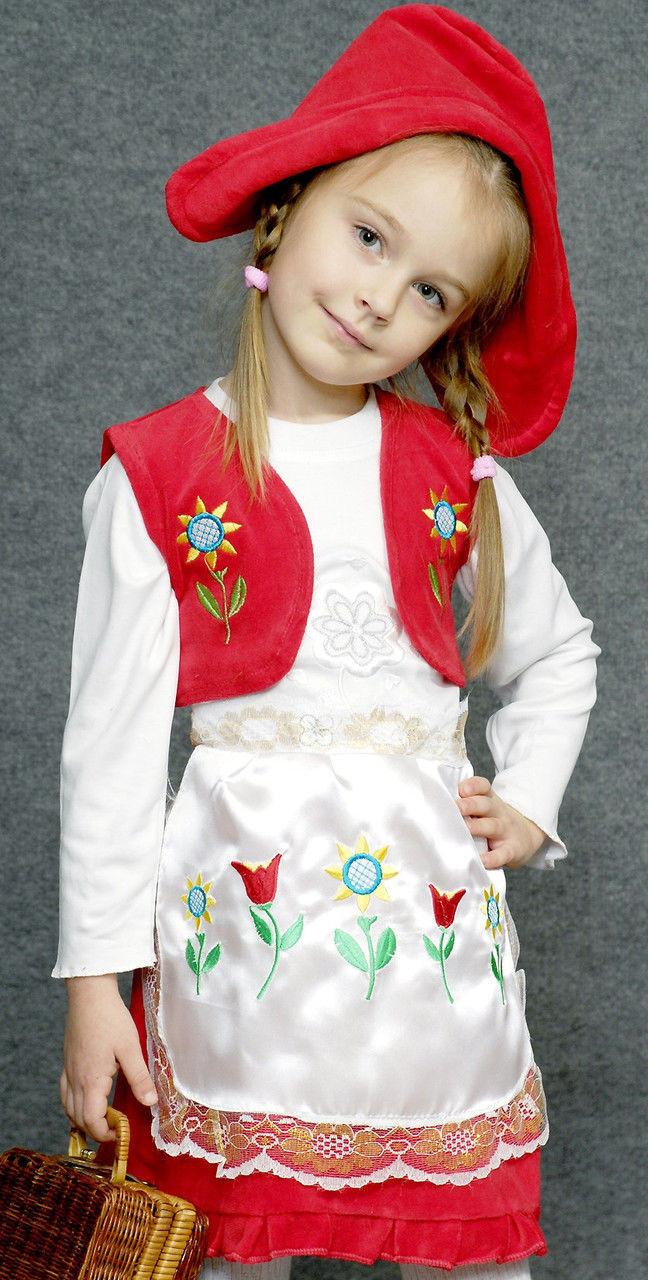 Карнавальный костюм красной шапочки для девочки