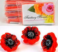 Холодный фарфор Fantasy Floral для реалистичных цветов,цвет красный маковый, фото 1
