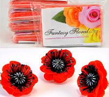 Холодный фарфор Fantasy Floral для реалистичных цветов,цвет красный маковый