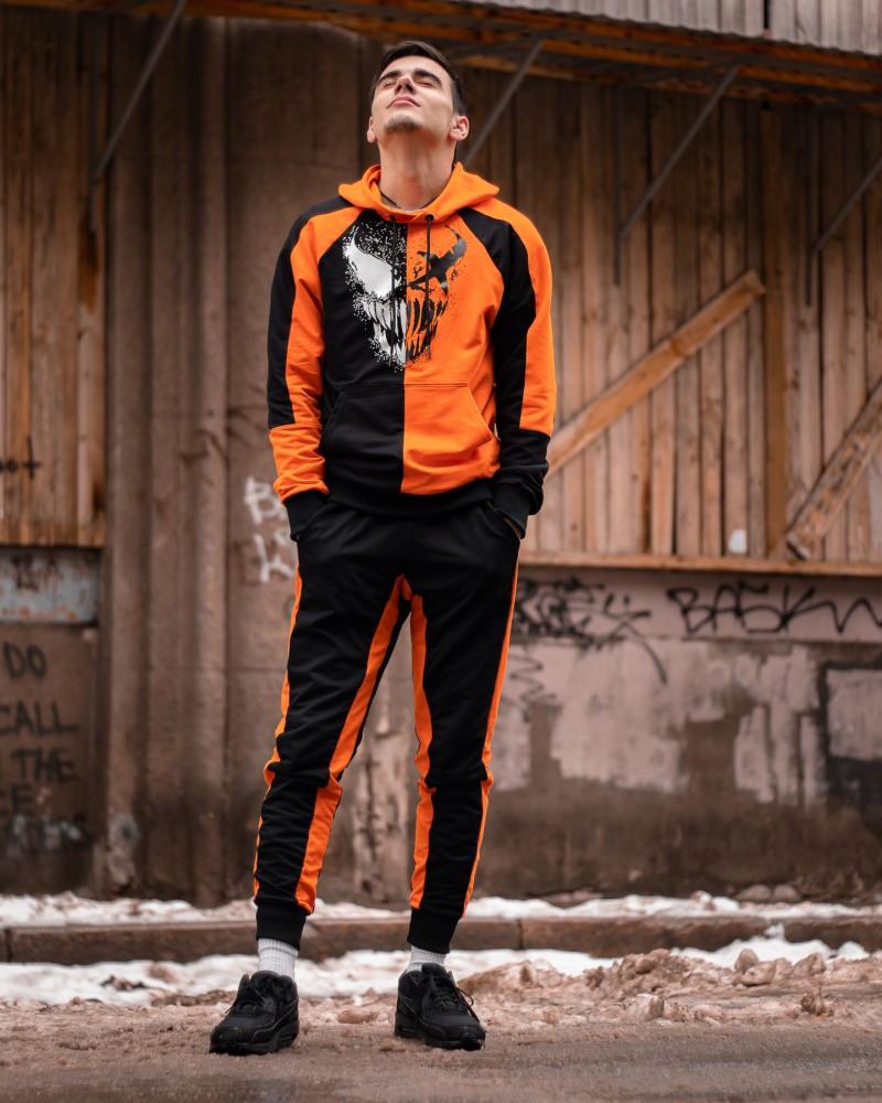 Спортивный костюм Benimaru O черно-оранжевый